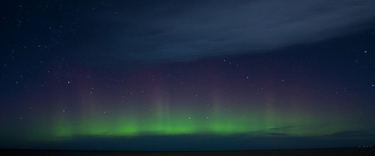 Northern lights on Lindisfarne